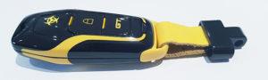 Custom Ford Mustang Biohazard Key