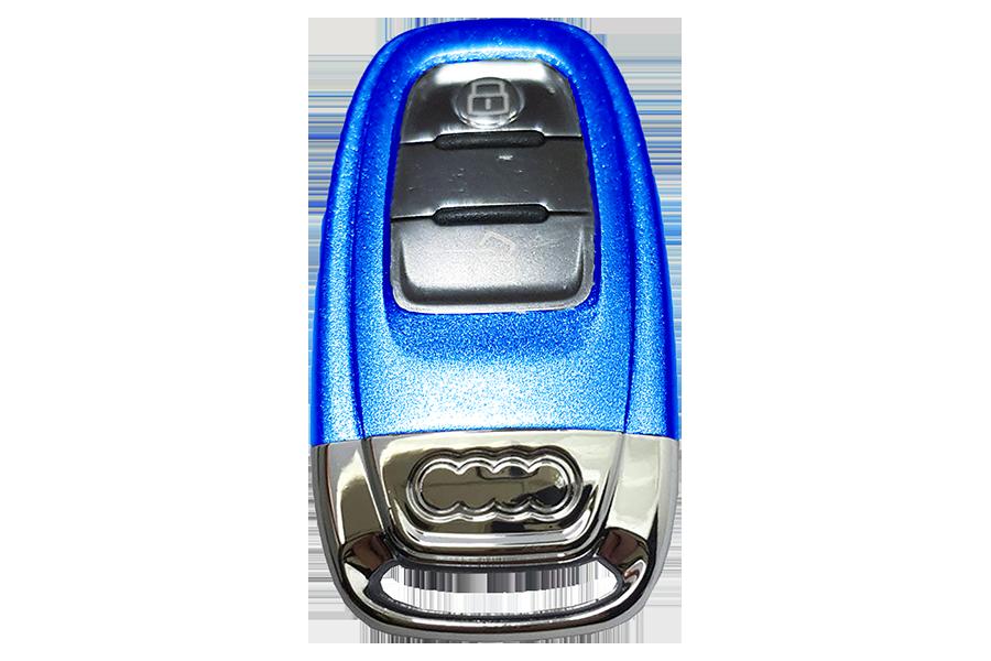 Custom Ara Blue Audi Key