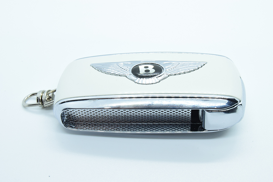 Glacier White Bentley Flip Key