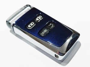 Midnight Blue Aston Martin Glass ECU Key