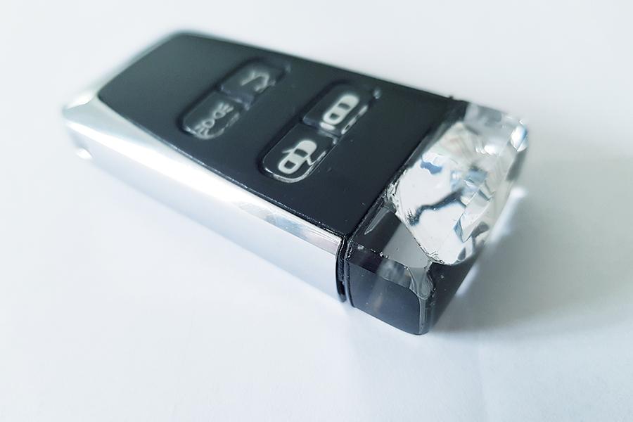 Damaged Aston Martin Glass ECU Key