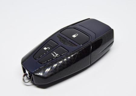 Midnight Blue & Carbon Fibre Effect Aston Martin Valet Key