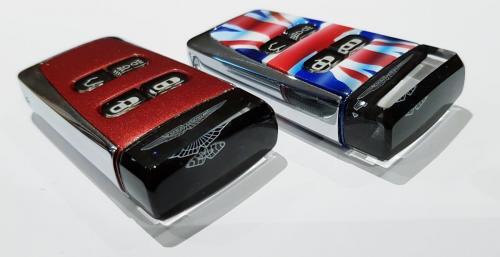 Volcano Red & Union Flag Aston Martin Glass Keys