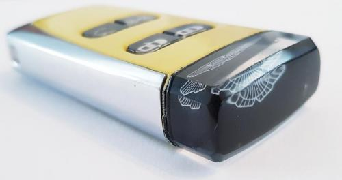 Yellow Tang Aston Martin Glass Key